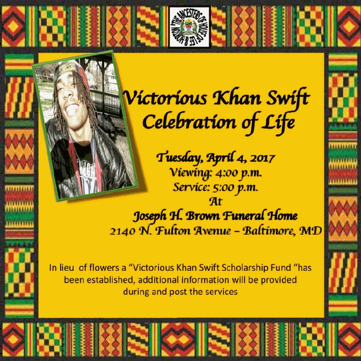 Victorious Swift Celebration of Life 1